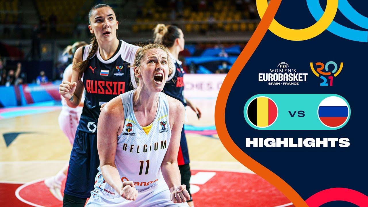 Belgium - Russia   Quarter-Finals   Full Highlights - FIBA Women's EuroBasket 2021