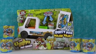 The Ugglys Dirty Dog Wash Van & 2 Pack Opening Toy Review With Exclusive Dog | PSToyReviews