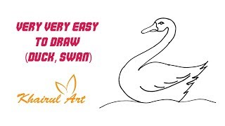 Very Very Easy To Draw (Duck, Swan)