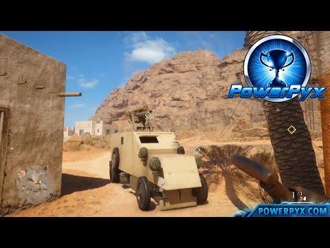 Battlefield 1 - Codex Entry Walkthrough: Desert Cars (Destroy Vehicles Unseen In Hear The Desert)