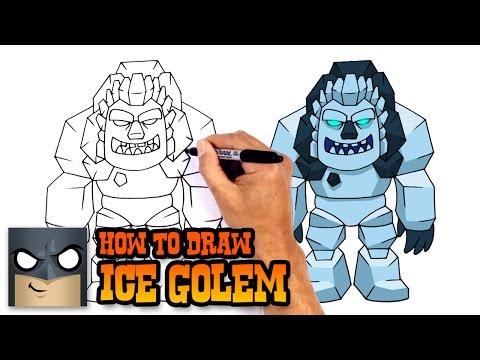 How To Draw Clash Royale | Ice Golem