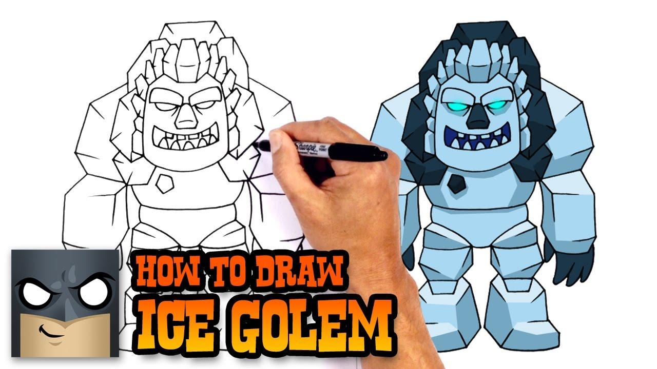 How To Draw Ice Golem Clash Royale Youtube