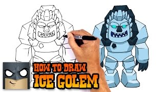 How to Draw Ice Golem | Clash Royale