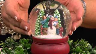 Holiday Scene Snowglobe With Blowing Snow By Valerie With Mary Beth Roe