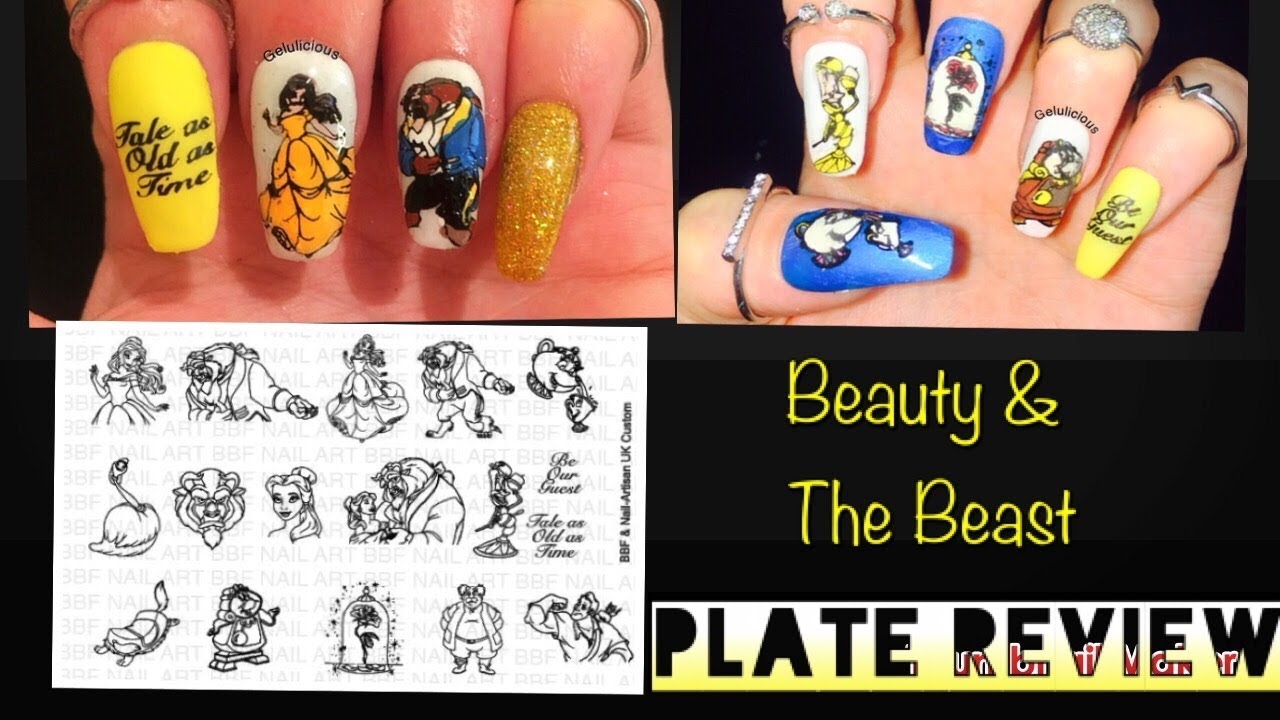 Beauty The Beast Nail Custom Stamping Plate Review Swatches