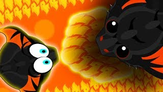 NOOB BLACK DRAGON vs. PRO BLACK DRAGON! | EPIC BLACK DRAGON 1v1 | Mope.io Funny Moments