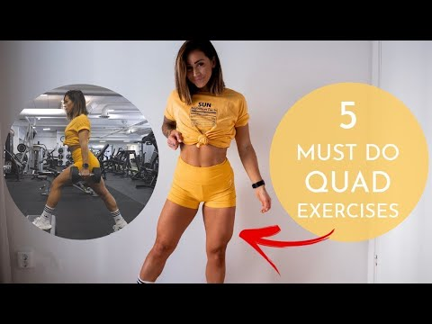 5 EXERCISES THAT BUILT MY QUADS TRY THIS WORKOUT FOR SORE LEGS!