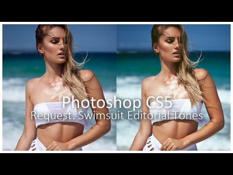Photoshop CS5] Request: Swimsuit Editorial Tones - YouTube