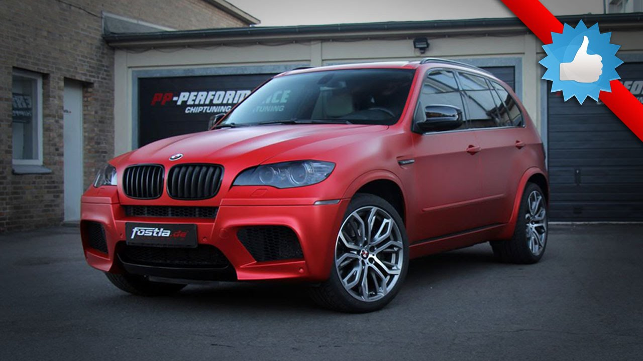 Red X5 Bmw >> 2014 BMW X5 M by Fostla.De: Matte Red Wrap 650HP - YouTube