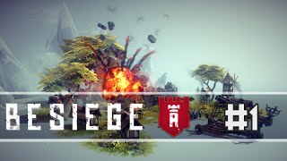 Besiege - Part 1 | Double Flaming Catapults! - Let's Play