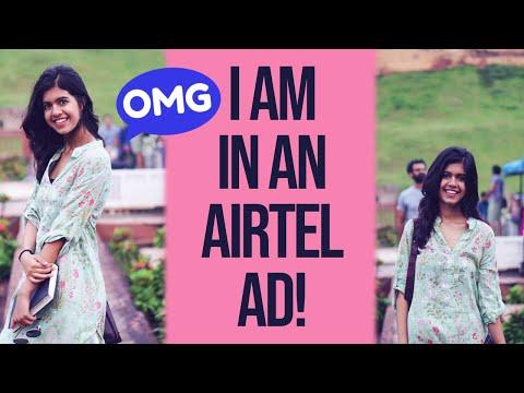 Acting in an Airtel Ad| Sejal Kumar