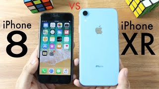 iPHONE XR Vs iPHONE 8! (Should You Upgrade?) (Speed Comparison) (Review)