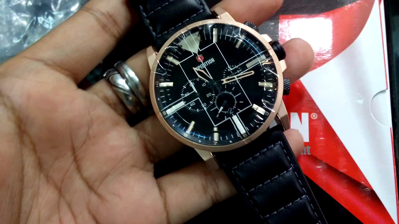 Jam Tangan Expedition Terbaru E 6717 Original Youtube E6679 Black Limited Edition