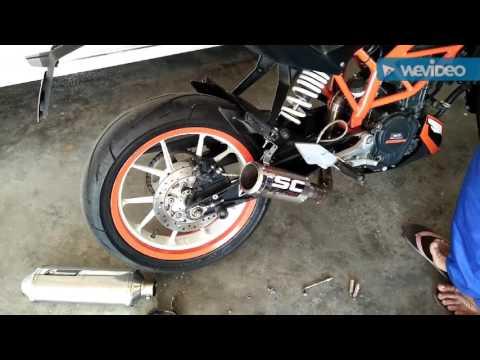 Testing exhaust SC project KTM duke 200