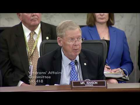 Isakson Opening Remarks at Senate VA Committee Hearing on Health Legislation