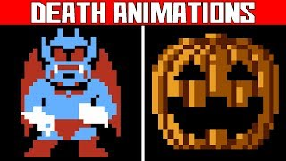 Nes Halloween Video Game Deaths Andamp Game Over Screens - Part 1 Death Animations