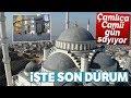 Çamlıca Camii'nde Halılar Yerleştirildi...Camideki Son Durum Drone ile Görüntülendi