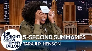 5-Second Summaries with Taraji P. Henson