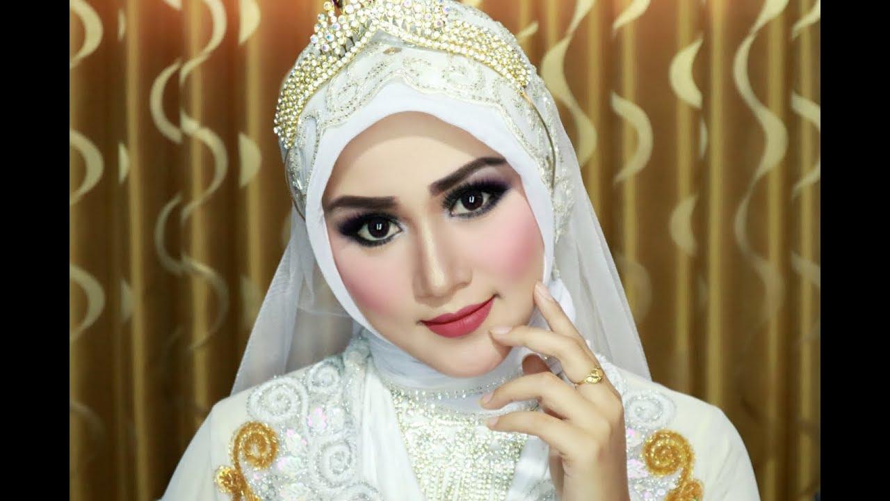 Cara Memakai Hijab Pengantin Simple Cantik Anggun Dan Mewah1 1