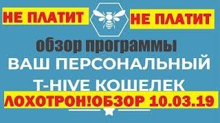 ЛОХОТРОН T-HIVE | ОБЗОР 10.03.19 | НЕ ПЛАТИТ |