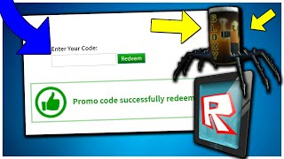 ALL ROBLOX PROMO CODE ON ROBLOX 2019 (JULY) SPIDER COLA