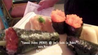 Famous Dishes MENU! @ Joe's Sushi La Habra