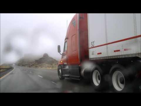 HeartLand Express Truck on Interstate 40 East of Kingman, Arizona