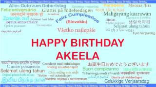 Akeela   Languages Idiomas - Happy Birthday