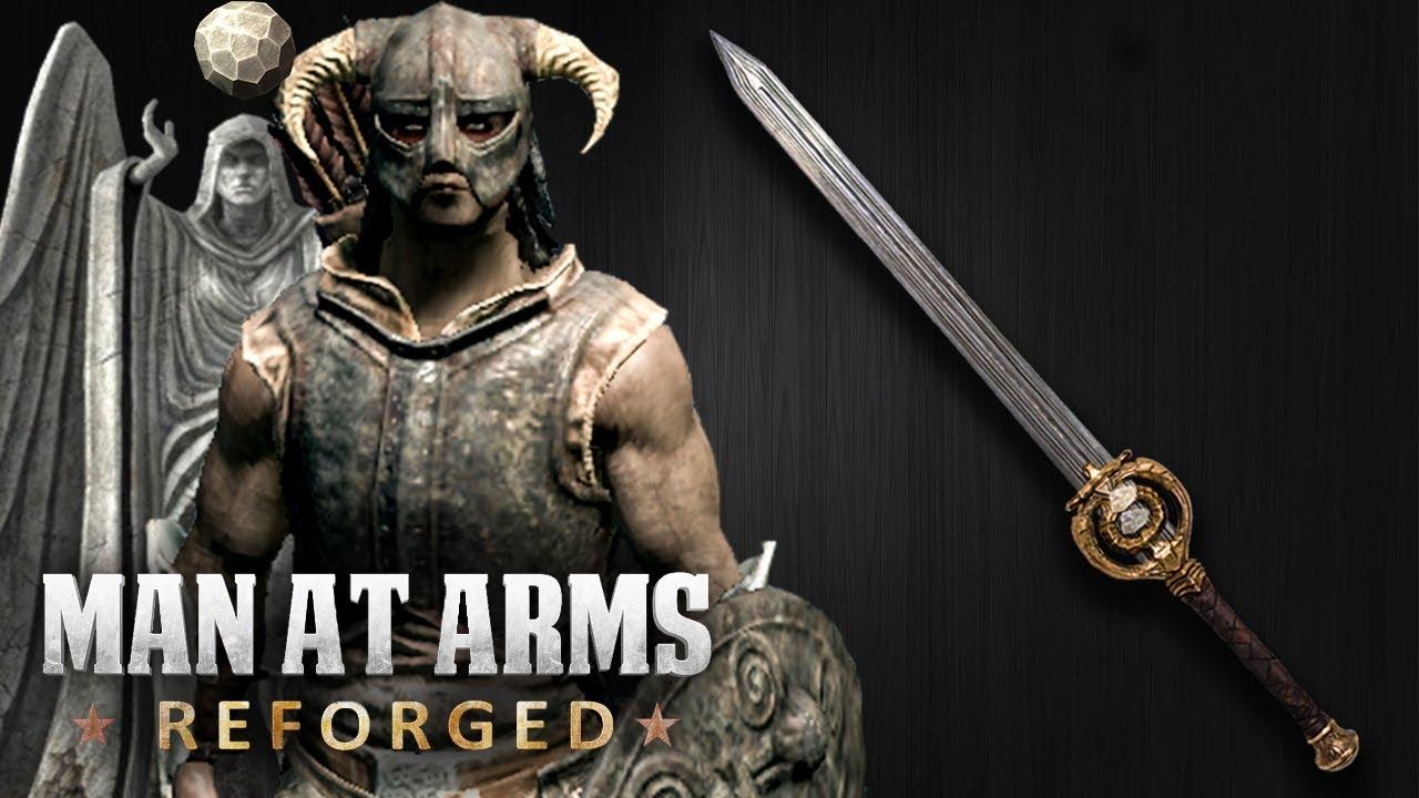 dawnbreaker elder scrolls skyrim man at arms reforged youtube