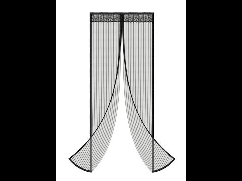 AOWOTO Magnetic Full Frame Velcro Heavy Duty Mesh Screen Door-Curtain