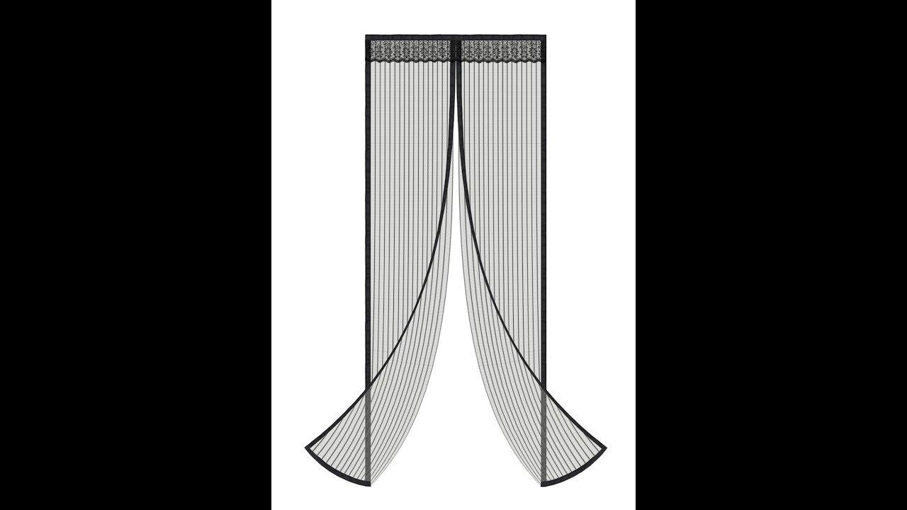 Aowoto Magnetic Full Frame Velcro Heavy Duty Mesh Screen Door