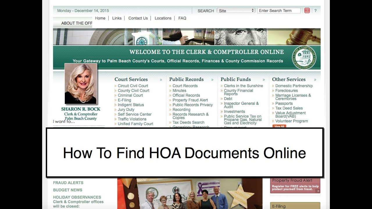 Finding Palm Beach County HOA Documents Online