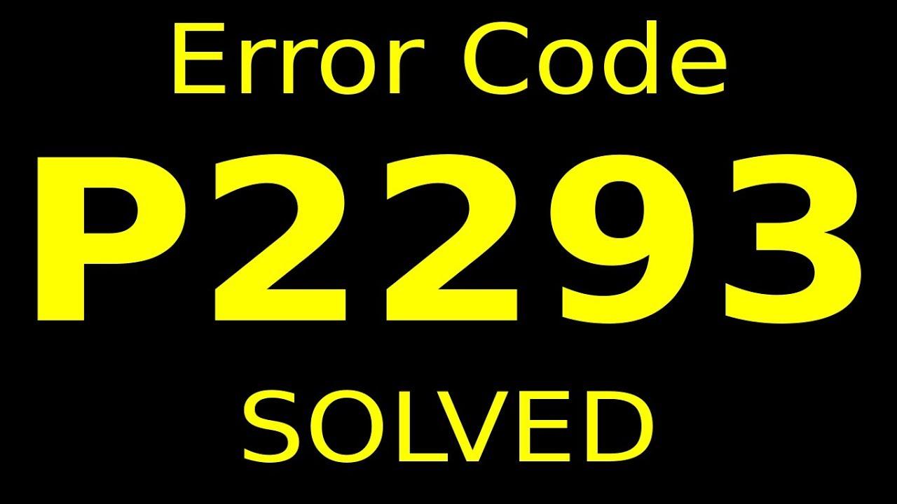 error code P2293 (RESOLVED)
