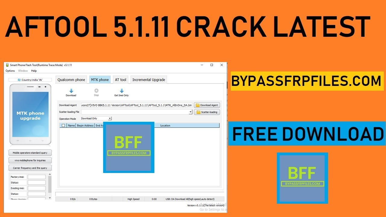 Download AFTool 5 1 11 Full Version Free - FRP BYPASS Files