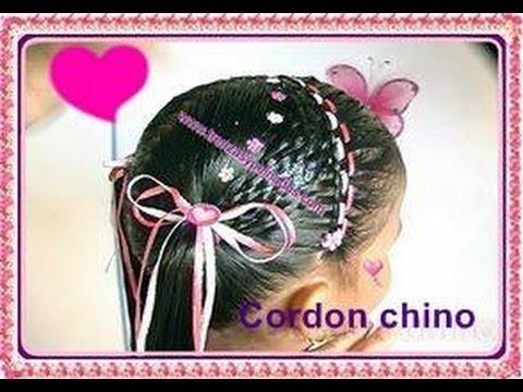 Peinados para ni as curso 5 cordon chino youtube - Peinados de ninas ...