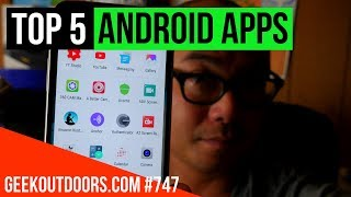 TOP 5 Android Apps for YouTubers and Content Creators #Geekoutdoors.com EP747