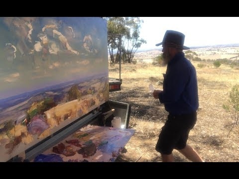Large Real Time, Plein Air Palette Knife Painting!!!