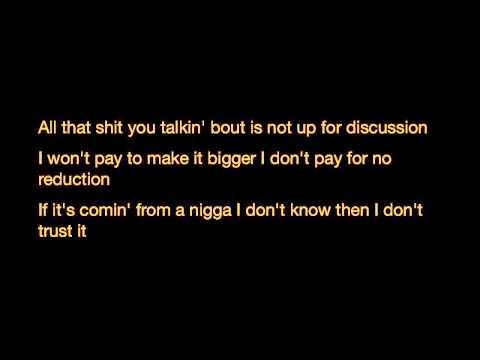 A$AP Rocky - Fucking problems ft Drake , 2 Chainz & Kendrick Lamar (Lyrics)