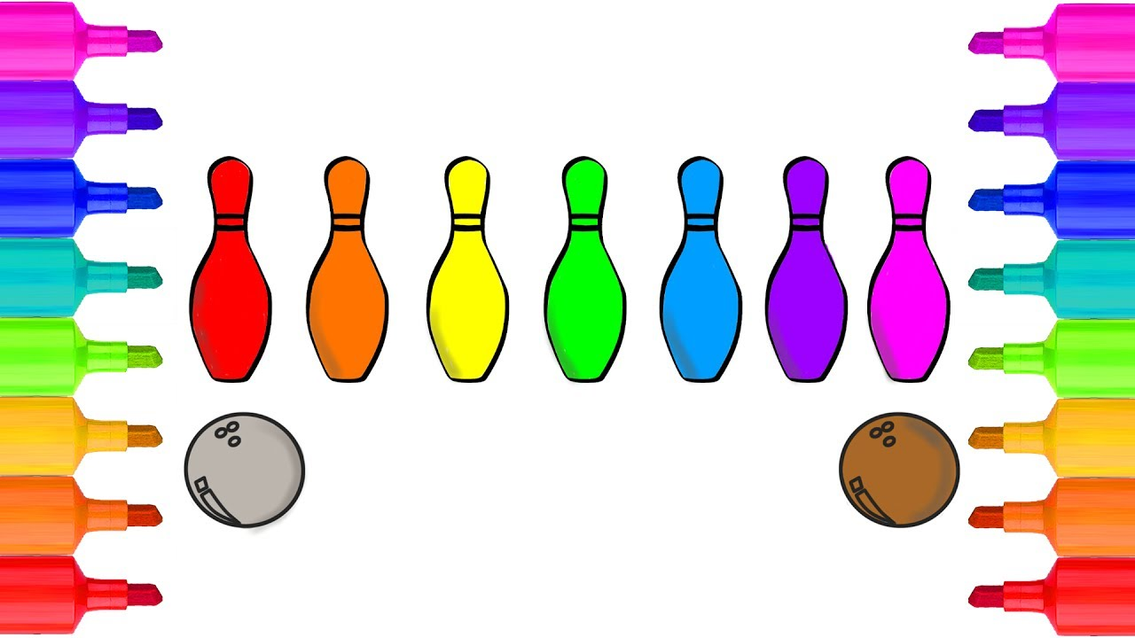 Bowling Coloring Pages | Coloring pages, Bowling pins, Color | 720x1280