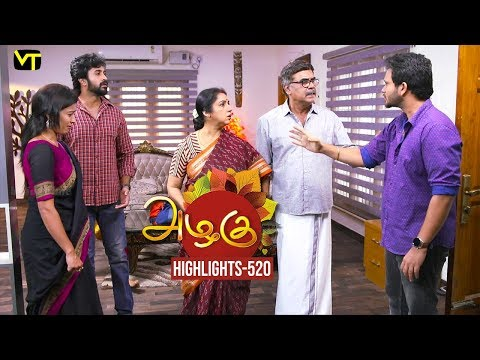 Azhagu Tamil Serial Episode 520 Highlights on Vision Time Tamil.   Azhagu is the story of a soft & kind-hearted woman's bonding with her husband & children. Do watch out for this beautiful family entertainer starring Revathy as Azhagu, Sruthi raj as Sudha, Thalaivasal Vijay, Mithra Kurian, Lokesh Baskaran & several others. Directed by K Venpa Kadhiresan  Stay tuned for more at: http://bit.ly/SubscribeVT  You can also find our shows at: http://bit.ly/YuppTVVisionTime  Cast: Revathy as Azhagu, Sruthi raj as Sudha, Thalaivasal Vijay, Mithra Kurian, Lokesh Baskaran & several others  For more updates,  Subscribe us on:  https://www.youtube.com/user/VisionTimeTamizh Like Us on:  https://www.facebook.com/visiontimeindia