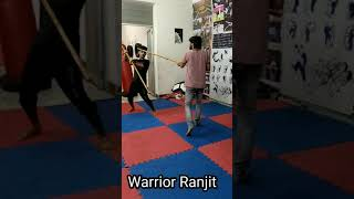 Kalaripayattu long stick fight technique 5 | Long stick self defense #shorts