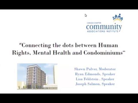 WEBINAR: Connecting the Dots between Human Rights, Mental Health and Condos!