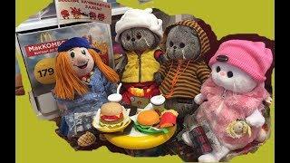 БАСИКИ сбежали с уроков в Макдоналдс! Video for children.