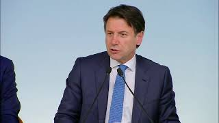 Consiglio dei Ministri n. 61, conferenza stampa Conte - Salvini - Giorgetti