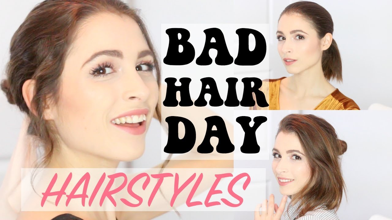 bad hair day styles 3 easy hairstyles for bad hair days 4098