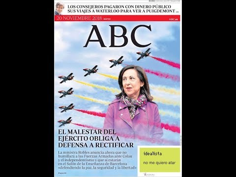 #Noticias Martes 20 Noviembre 2018 Titulares Portada Diarios Periódicos España Spain #News