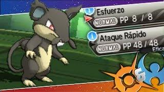 Gambar cover ¡RATTATA-ALOLA A NIVEL 1 ES DIOS! Pokémon Sol y Luna: COMBATE!