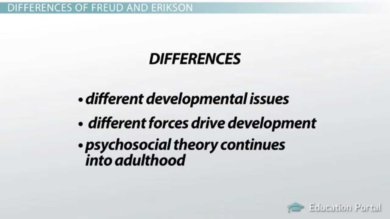 medium resolution of differences between freud and erikson s approach to psychoanalytic theory differences and analysis youtube