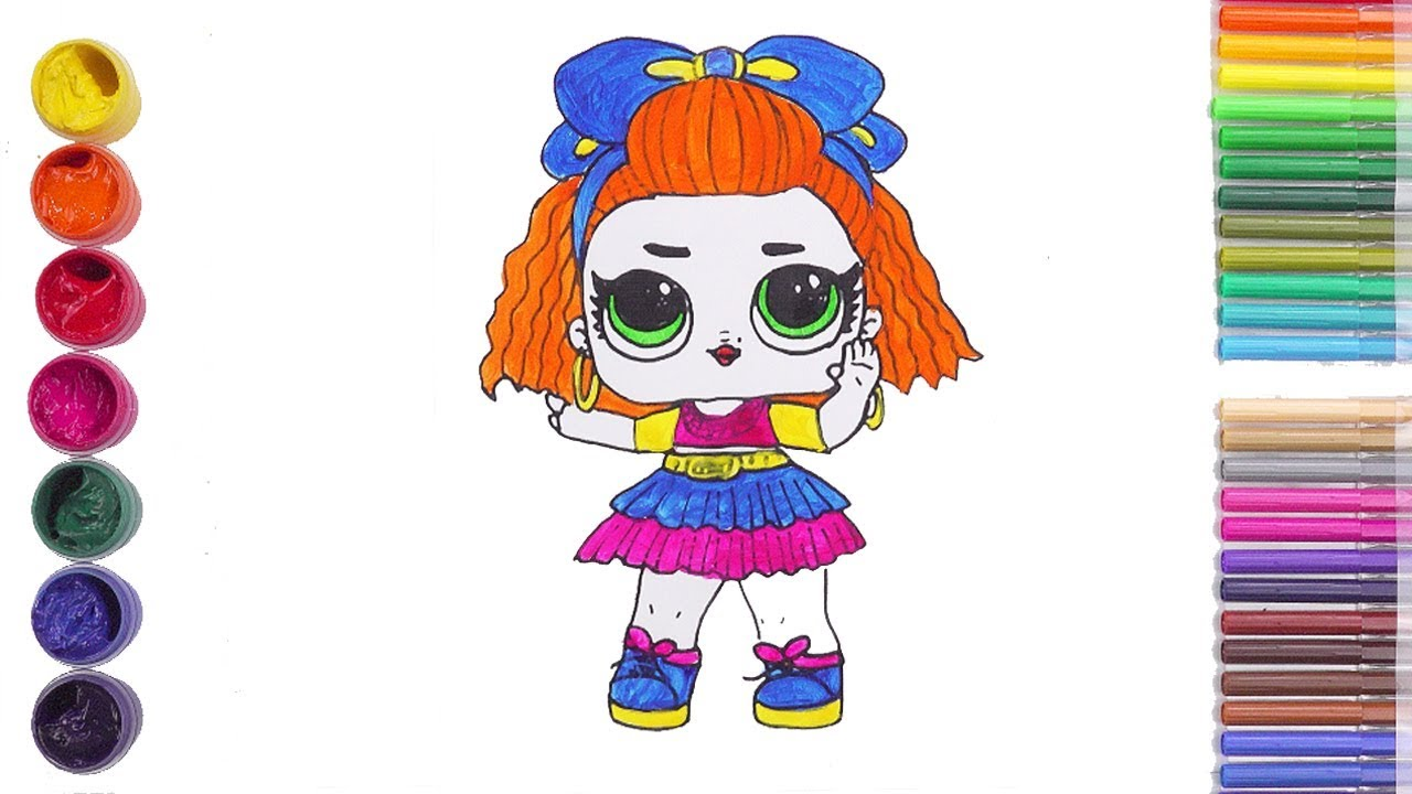 LOL DOLLS Hair Goals Coloring Pages