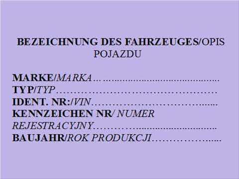 Umowa Kupna Sprzedaży Samochodu Niemiecko Polska Youtube